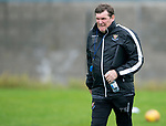 St Johnstone Training….09.08.19<br />Manager Tommy Wright pictured at McDiarmid Park this morning during a very wet and windy training session.<br />Picture by Graeme Hart.<br />Copyright Perthshire Picture Agency<br />Tel: 01738 623350  Mobile: 07990 594431