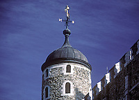 Watchtower on the Tower of London's White Tower.  London, England, UK