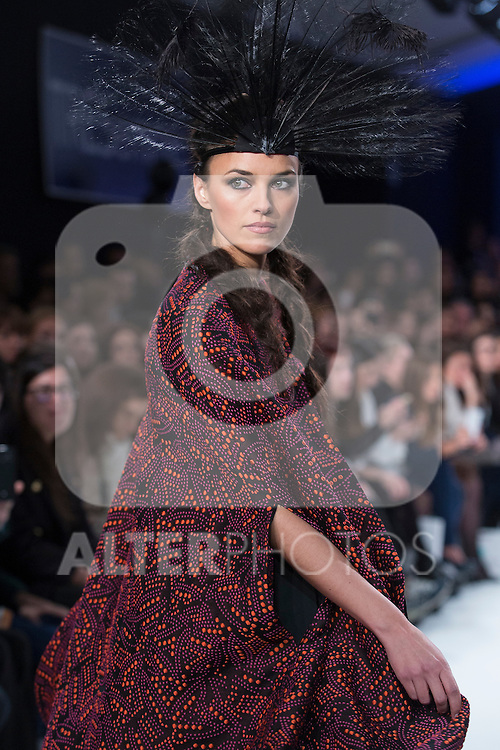 Model Helen Lindes walks the catwalk during Tresemme fashion show during MFS in Madrid, Spain. February 09, 2016. (ALTERPHOTOS/Victor Blanco)
