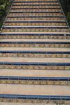 Tiled steps at El Alcazar in Seville, Spain.
