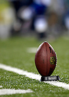 8 October 2007: A Football is teed up and ready for the start of play between the Buffalo Bills the Dallas Cowboys at Ralph Wilson Stadium in Buffalo, New York. The Cowboys defeated the Bills 25-24 winning their fifth consecutive game of the season...Mandatory Photo Credit: Ed Wolfstein Photo