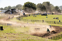 A general view of the racing at Wakes Colne MX during the Richard Fitch Memorial Trophy Motocross at Wakes Colne MX Circuit on 18th July 2021