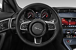 Car pictures of steering wheel view of a 2019 Jaguar F-Type R-Dynamic 2 Door Coupe Steering Wheel