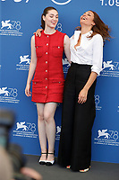 """VENICE, ITALY - SEPTEMBER 06: Anamaria Vartolomei, Director Audrey Diwan at the photocall of """"L'Evenement"""" during the 78th Venice International Film Festival on September 06, 2021 in Venice, Italy. <br /> CAP/GOL<br /> ©GOL/Capital Pictures"""