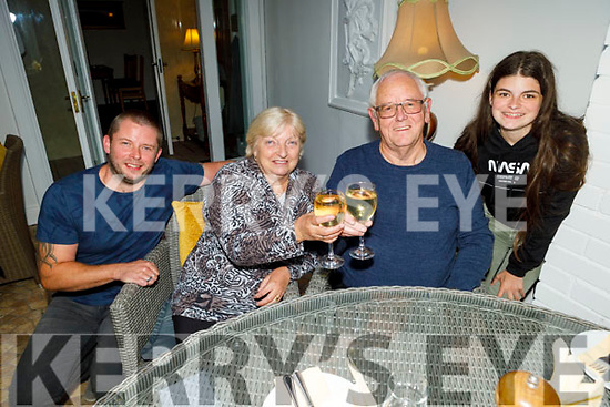 The Cullagh family, James, Elizabeth and Declan Cullagh with Emma Connaire as they enjoy the evening at the reopening of Bella Bia on Monday evening.
