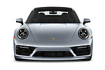 Car photography straight front view of a 2020 Porsche 911 Carrera S 2 Door Coupe
