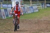 28th August 2021; Commezzadura, Trentino, Italy;  2021 Mountain Bike Cycling World Championships, Val di Sole; Cross Country, Womens Under 23, Matylda SZCZECINSKA (POL)