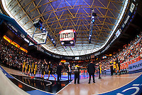 VALENCIA, SPAIN - APRIL 24: Iberostar Gran Canaria during ENDESA LEAGUE match between Valencia Basket Club and Iberostar Gran Canaria at Fonteta Stadium on April, 2016 in Valencia, Spain