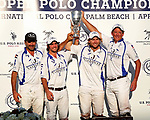 WELLINGTON, FL - APRIL 25:  Valiente defeats Orchard Hill 13-12, in overtime, in the US Open Polo Championship Final, to win the U. S. Polo Triple Crown, at the International Polo Club Palm Beach, on April 25, 2017 in Wellington, Florida. (Photo by Liz Lamont/Eclipse Sportswire/Getty Images)