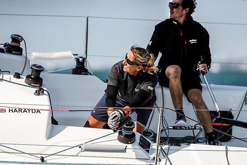 Winning last year's IRC Two-Handed Nationals, James Harayda's Sun Fast 3300 Gentoo, will be competing with round the world sailor Dee Caffari in the 2021 Rolex Fastnet Race Photo: Paul Wyeth/pwpictures.com