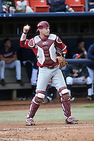 Alex Dunlap #22 of the Stanford Cardinal during a game against the Cal State Fullerton Titans at Goodwin Field on February 19, 2017 in Fullerton, California. Stanford defeated Cal State Fullerton, 8-7. (Larry Goren/Four Seam Images)