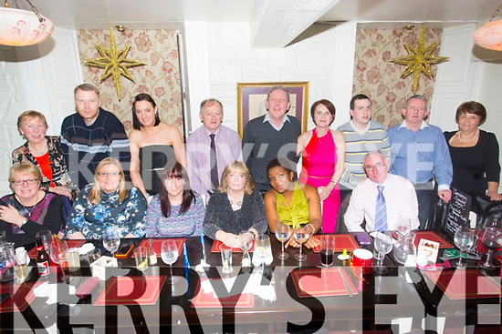 Staff and Volunteers St. Vincent De Paul Christmas Party at the Brogue on Saturday.Pictured  Front l-r Jean Hollywood, Emma McElligott, Jane Guerin, Catherine Quill, Sylvia Fabian, John Greaney.  Back l-r Sheila O'Connor, Shane Hanafin, Evelyn Foley, Gerard O'Shea, Pat Herlihy, Ellen Mangan, Paddy Kevane, Martin Fitzpatrick, Catherine Magner