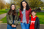 Enjoying a stroll in the Tralee town park on Thursday, l to r: Christina and Karima and Ian Lopez