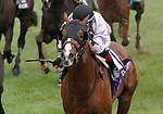 """October 06, 2019 : #10 Peace Achieved and jockey Miguel Mena win the 29th running of the Dixiana Bourbon Grade 3 $250,000 """"Win and You're In Breeders' Cup Juvenile Turf Division"""" for owner JSM Equine and trainer Mark Casse at Keeneland Racecourse in Lexington, KY on October 06, 2019.  Candice Chavez/ESW/CSM"""
