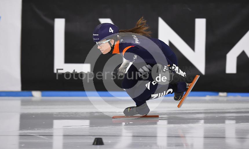 SCHAATSEN: HEERENVEEN: 12-12-2020, IJsstadion Thialf, Shorttrack, NK Shorttrack Afstanden, Selma Poutsma, ©foto Martin de Jong