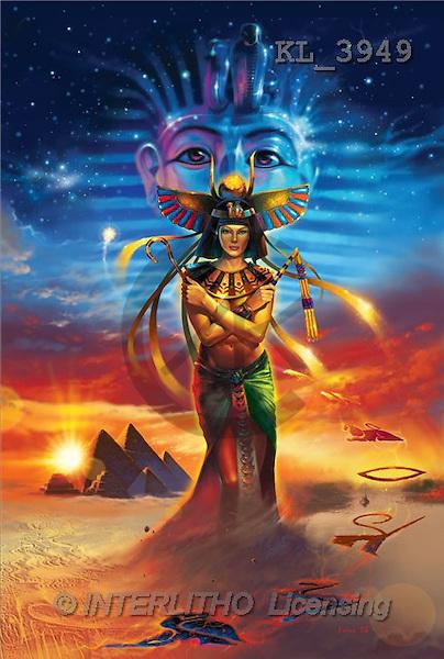 Interlitho, Jason, FANTASY, paintings, egyptian dreams, KL, KL3949,#fantasy# illustrations, pinturas