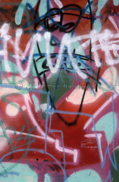 Graffiti on a Wall in the East Village, circa late 1980's, New York City, New York State, USA