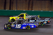 NASCAR Camping World Truck Series<br /> Buckle Up In Your Truck 225<br /> Kentucky Speedway, Sparta, KY USA<br /> Thursday 6 July 2017<br /> Ryan Truex, AISIN Toyota Tundra, Parker Kligerman, Food Country USA / Lopez Wealth Management/ Tide Pods Toyota Tundra and Matt Crafton, Jack Links / Menards Toyota Tundra<br /> World Copyright: Russell LaBounty<br /> LAT Images