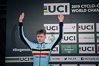 2nd place for Witse Meeussen (BEL)<br /> <br /> Men's Junior race<br /> <br /> UCI 2019 Cyclocross World Championships<br /> Bogense / Denmark<br /> <br /> ©kramon