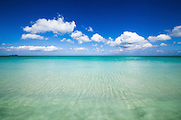 The pristine waters of Waimanalo Bay, Windward O'ahu.