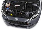 Car Stock a 2015 Ford Focus St 5 Door Hatchback Engine high angle detail view