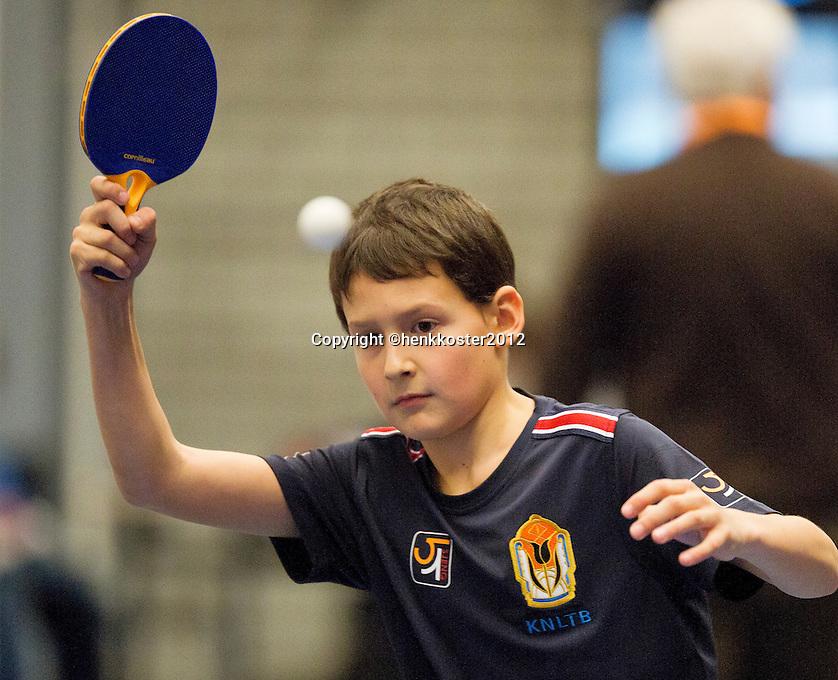 12-12-12, Rotterdam, Tennis, Masters 2012, Ballboy playing table tennis
