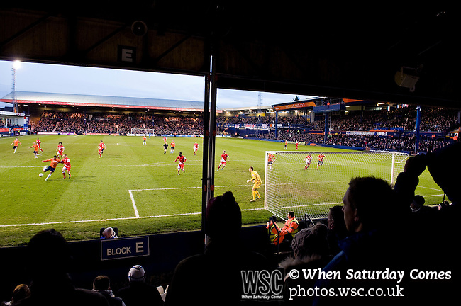 Luton Town 6 Kidderminster Harriers 0, 28/12/2013. Kenilworth Road, Football Conference. A bumper Christmas crowd packs in to Luton's old stadium with hope that this will be their year to return to the Football League.  Photo by Simon Gill.