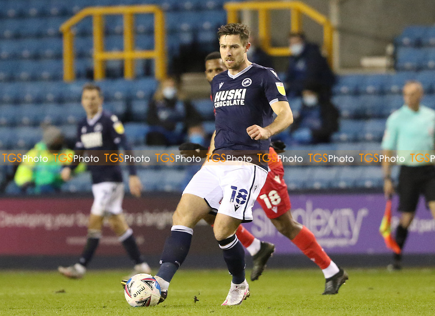 Ryan Leonard of Millwall during Millwall vs Nottingham Forest, Sky Bet EFL Championship Football at The Den on 19th December 2020