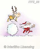 Fabrizio, Comics, CHRISTMAS SANTA, SNOWMAN, WEIHNACHTSMÄNNER, SCHNEEMÄNNER, PAPÁ NOEL, MUÑECOS DE NIEVE, paintings+++++,ITFZ86,#x#