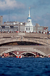 Rowing, Charles River bridges, Head of the Charles Rowing Regatta, Cambridge, Boston, Massachusetts, New England, USA,.