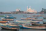 Vizhinjam ,fishing , port ,harbor ,  state of Kerala, near,  Kovalam beach,Mosque, Vizhinjam fishing port,india,