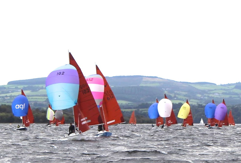 The Squibs had the biggest fleet, and here Slipstream (102, Robert Marshall & Neil Logan, Killyleagh YC) leads from Fuggles (Sean & Paul Murphy, Kinsale YC).