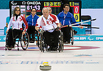 Jim Armstrong, Sochi 2014 - Wheelchair Curling // Curling en fauteuil roulant.<br /> Canada takes on Finland in Wheelchair Curling // Le Canada affronte la Finlande au curling en fauteuil roulant. 13/03/2014.