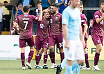 Forfar v St Johnstone…28.07.18…  Station Park    Betfred Cup<br />Matty Kennedy celebrates his goal with Tony Watt and Drey Wright<br />Picture by Graeme Hart. <br />Copyright Perthshire Picture Agency<br />Tel: 01738 623350  Mobile: 07990 594431