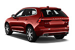 Car pictures of rear three quarter view of a 2018 Volvo XC60 Inscription T8 eAWD Plug-in Hybrid 5 Door SUV angular rear