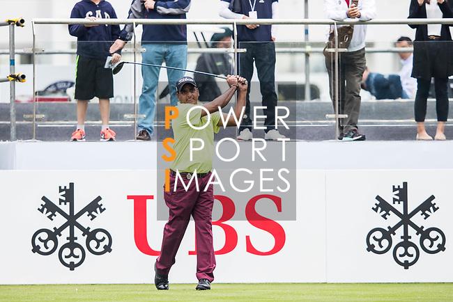 Mukesh Kumar of India tees off during the day three of UBS Hong Kong Open 2017 at the Hong Kong Golf Club on 25 November 2017, in Hong Kong, Hong Kong. Photo by Yu Chun Christopher Wong / Power Sport Images