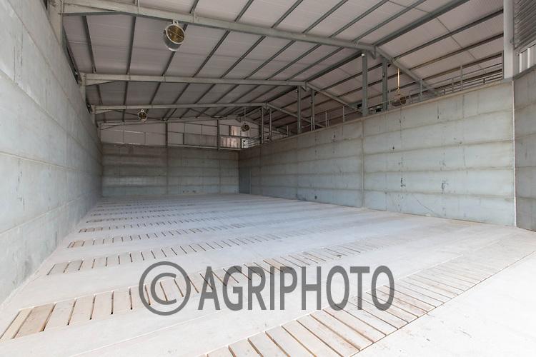 Empty  bulk potato store in Shropshire<br /> Picture Tim Scrivener 07850 303986