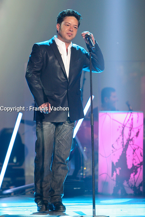 Eric Lapointe performs during the Telethon Enfant Soleil in Quebec City Sunday June 3, 2012.