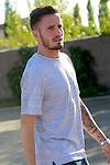 Spain's Saul Niguez arrives to the national football team stage. October 2,2017.(ALTERPHOTOS/Acero)