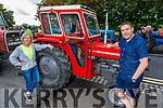 Joan Griffin (Ardfert) and Darragh O'Shea (Tralee) enjoying the Ardfert Tractor Run fundraiser for the staff of UHK on Sunday.