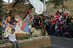 Israel, Lower Galilee, Christmas procession in Nazareth