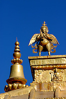 The Rooftop of the Jokhang in Lhasa, Tibet