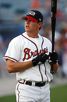 Infielder/outfielder Kelly Johnson (4) of the Greenville Braves, Class AA farm team of the Atlanta Braves taken at Greenville Municipal Stadium, Greenville, S.C., April 17, 2004. (Tom Priddy/Four Seam Images)