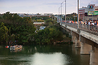Millions of Mexican free-tailed bat emerges from the Ann W. Richards Congress Avenue Bridge in search of insects Tuesday August 31, 2010. The bridge is home to the largest urban bat colony in North America - up to 1.5 million bats.