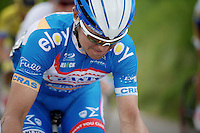 Jerome Baugnies (BEL/Wanty-Groupe Gobert) up the 'steepest climb' in Holland: Keutenberg (22%)<br /> <br /> Amstel Gold Race 2014