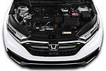 Car Stock 2020 Honda CR-V LX 5 Door SUV Engine  high angle detail view