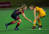 Action from the girls' premier one Wellington Hockey match between Wellington Girls College and St Oran's College at National Hockey Stadium in Wellington, New Zealand on Friday, 21 August 2020. Photo: Dave Lintott / lintottphoto.co.nz