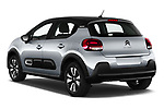 Car pictures of rear three quarter view of 2020 Citroen C3 Shine 5 Door Hatchback Angular Rear