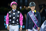 Team GEN rider Jacqueline Lai of Hong Kong riding Chardonay Haras des Barrages and jockey Derek Leung riding Cewaldine  compete in the HKJC Race Of The Riders during the Longines Masters of Hong Kong at the Asia World Expo on 09 February 2018, in Hong Kong, Hong Kong. Photo by Ian Walton / Power Sport Images