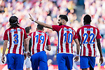Yannick Ferreira Carrasco celebrates his score with his teammates during the La Liga match between Atletico de Madrid vs Osasuna at the Estadio Vicente Calderon on 15 April 2017 in Madrid, Spain. Photo by Diego Gonzalez Souto / Power Sport Images
